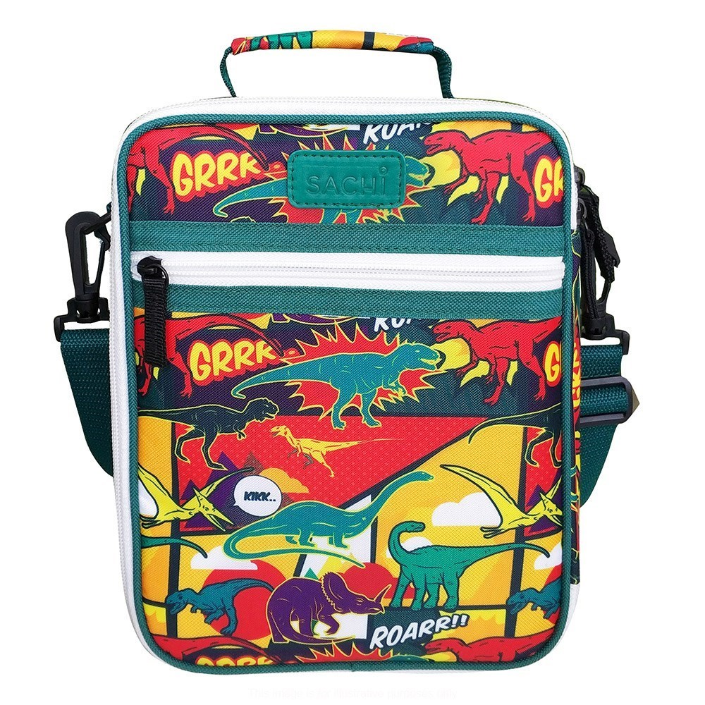 Sachi Style 225 Insulated Junior Lunch Tote Dinosaurs