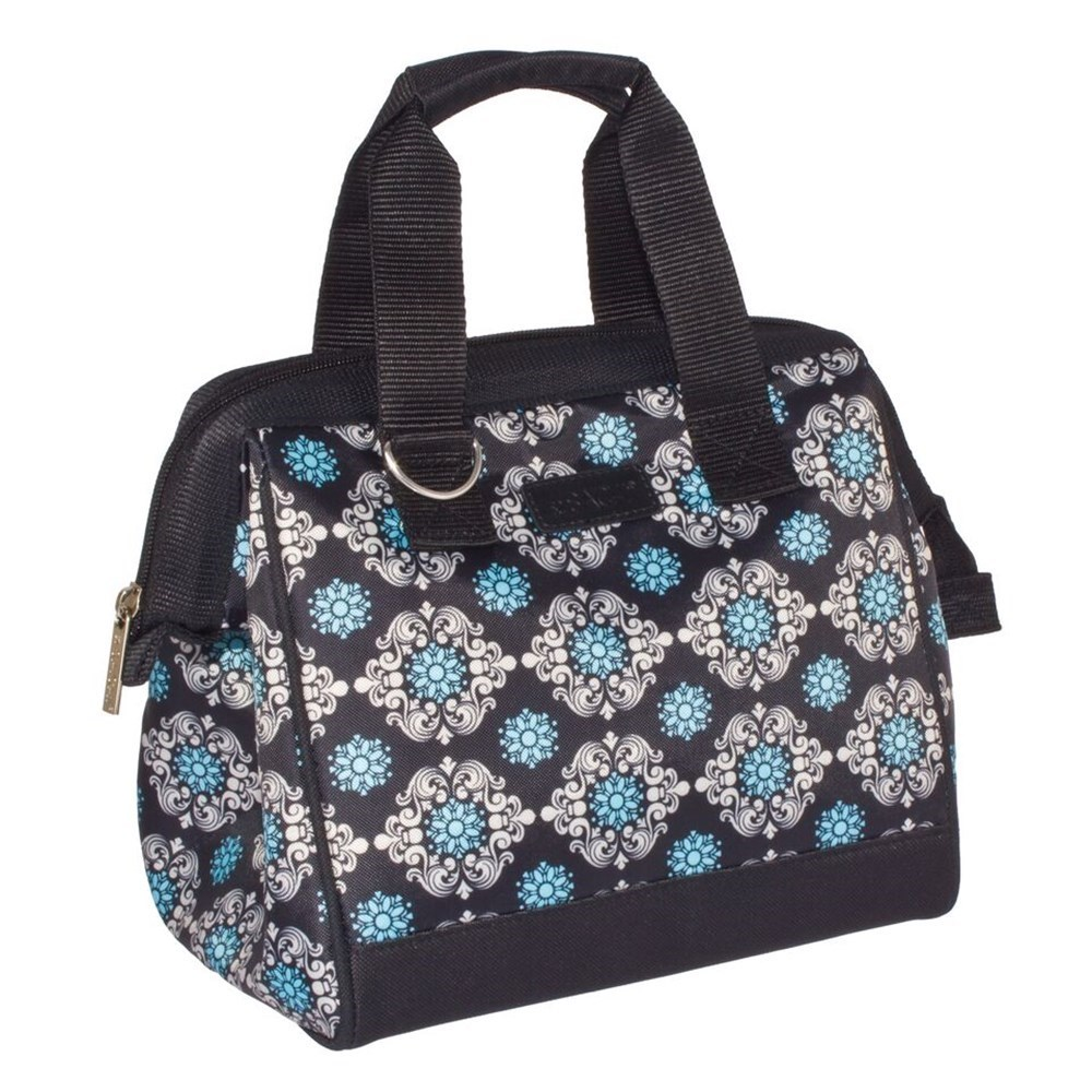 Sachi Insulated Lunch Bag Black Medallions