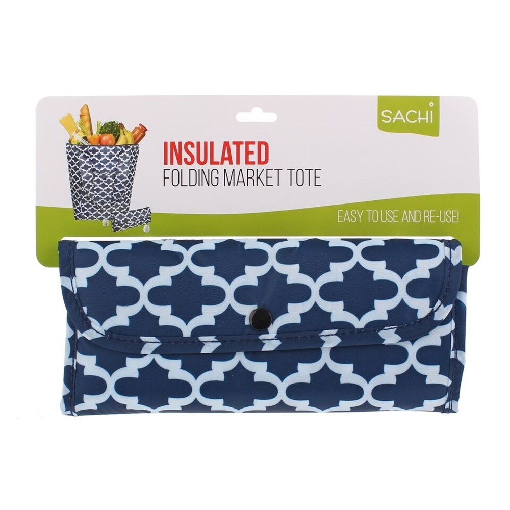 Sachi Insulated Market Tote Moroccan Navy