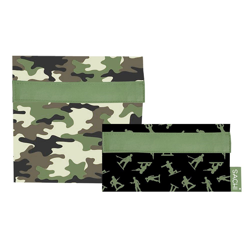 Sachi 2-Piece Insulated Lunch Pockets Camo Green