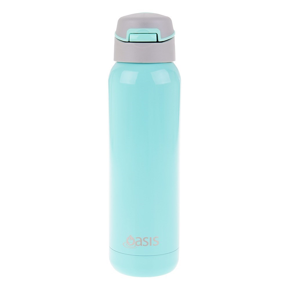 Oasis Insulated Sports Bottle with Inbuilt Straw 500ml Spearmint Green