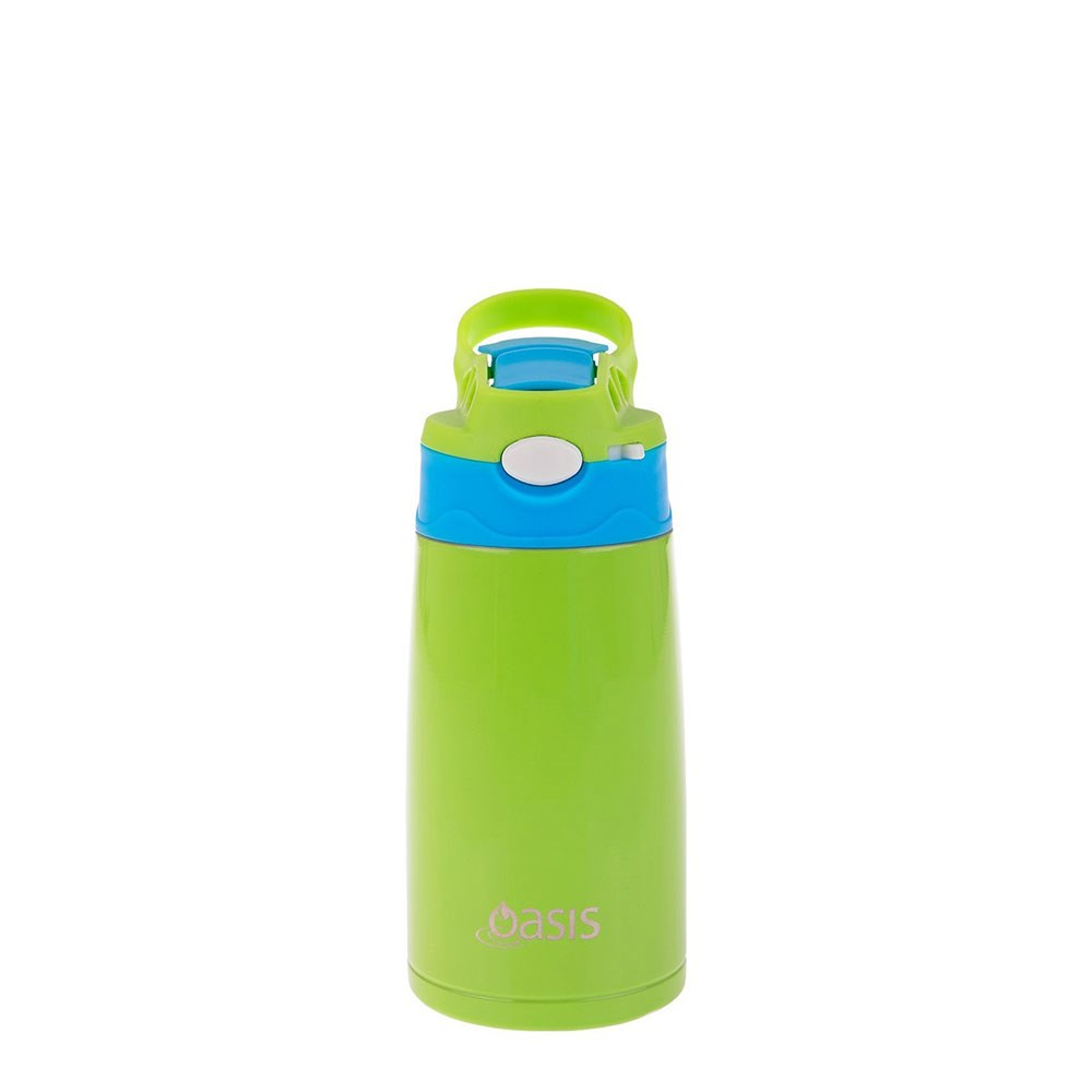 Oasis Kid's Stainless Steel Insulated Water Bottle 350ml Green & Blue