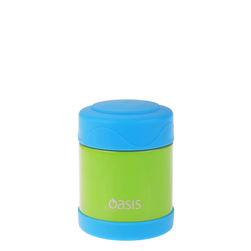 Oasis Kid's Stainless Steel Insulated Food Flask 300ml Green & Blue