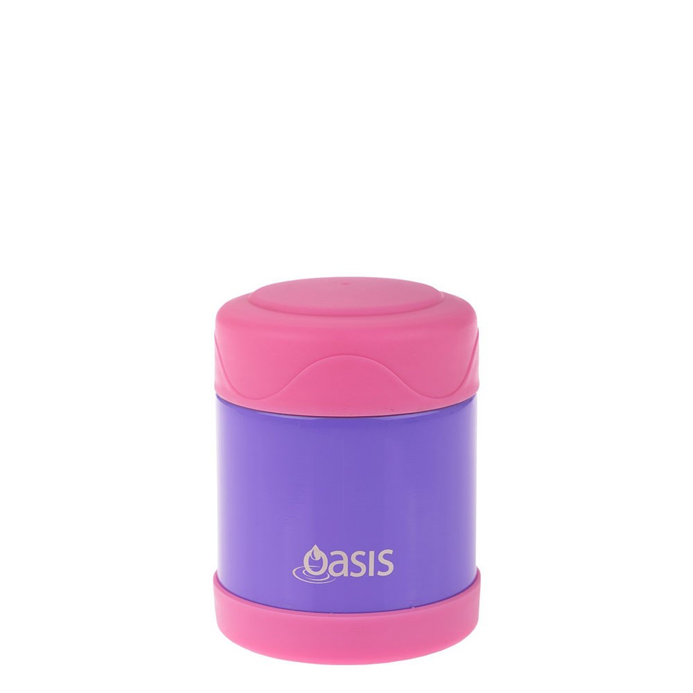 Oasis Kid's Stainless Steel Insulated Food Flask 300ml Purple & Pink