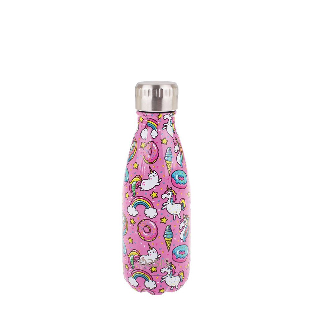 Oasis Insulated Stainless Steel Water Bottle 350ml Unicorn
