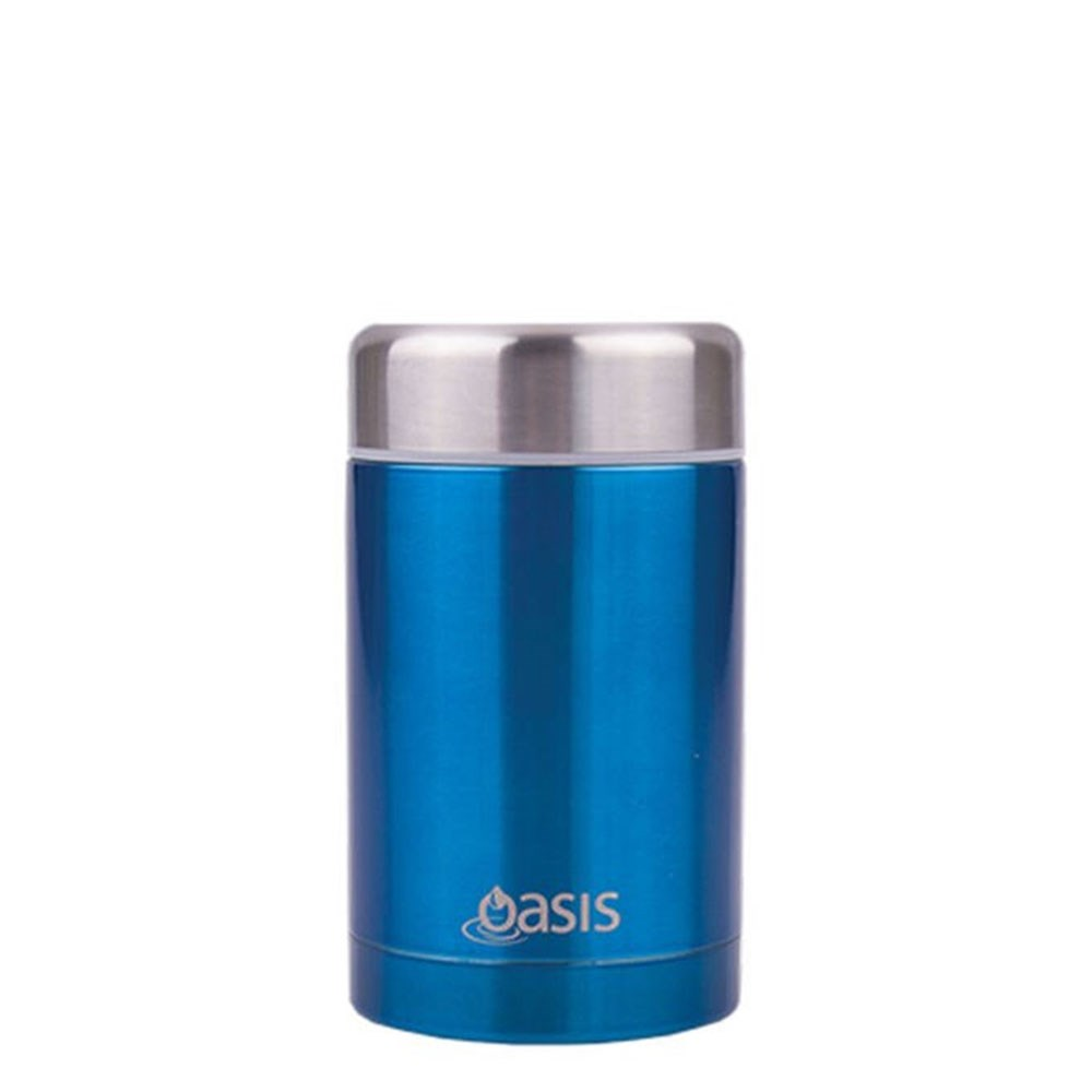 D.Line Oasis Food Flask 450ml Stainless Steel Aqua