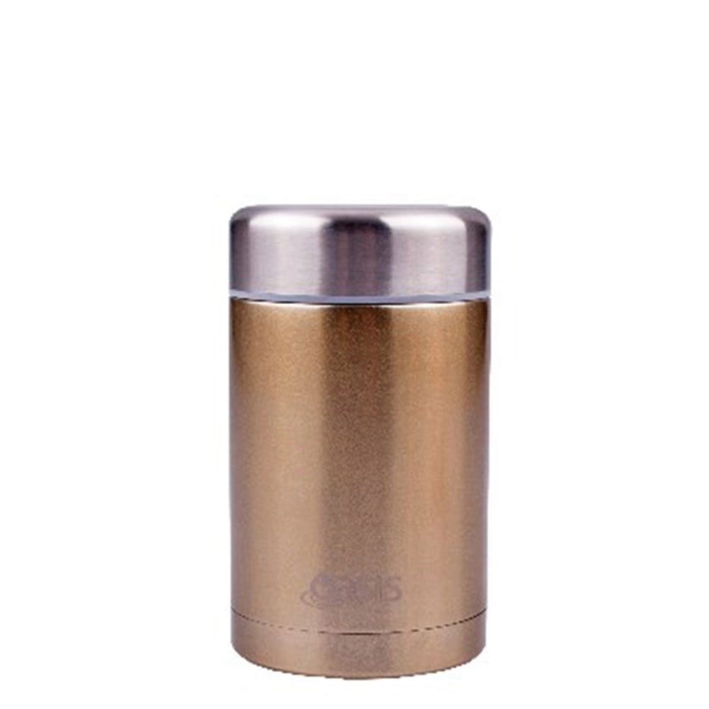 D.Line Oasis Food Flask 450ml Stainless Steel Champagne