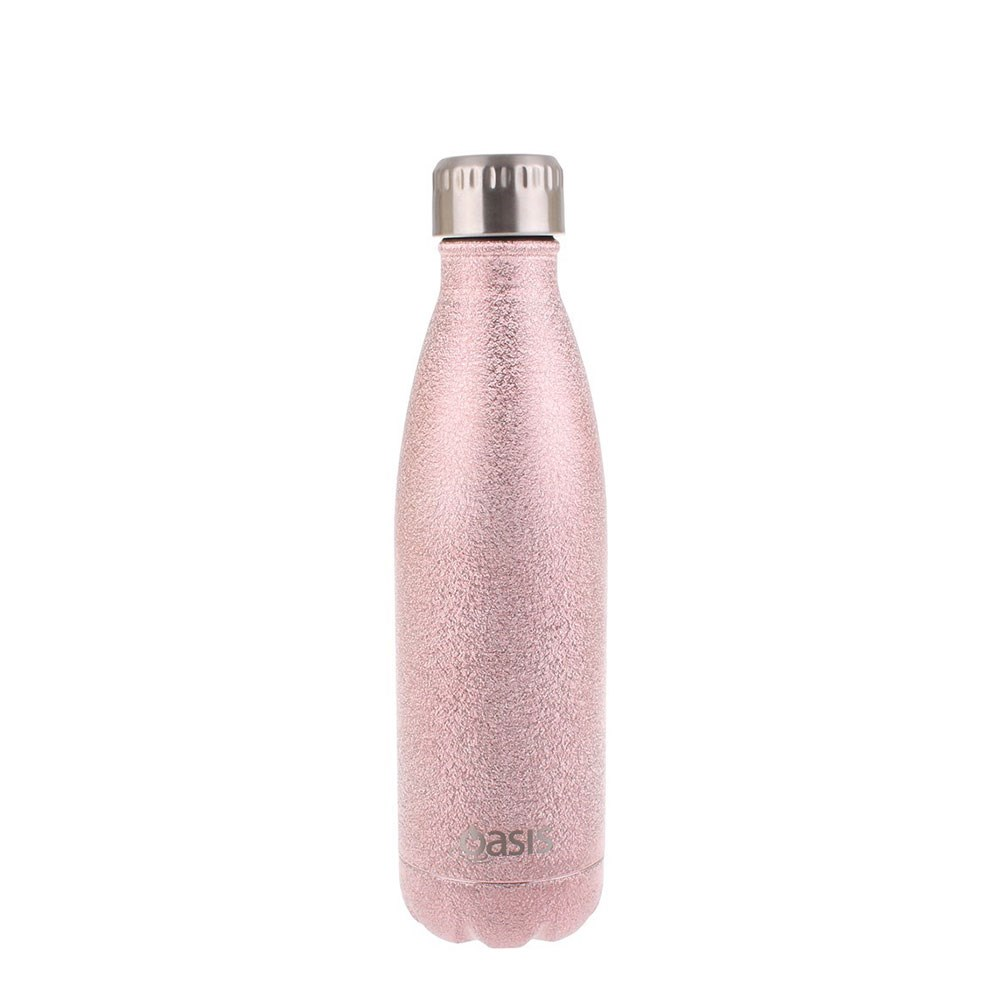 Oasis Insulated Stainless Steel Water Bottle 500ml Shimmer Blush