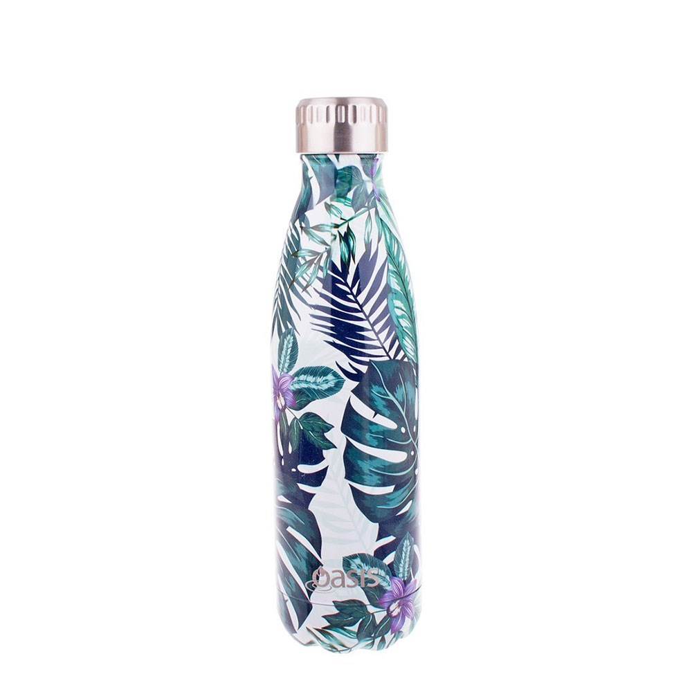 Oasis Insulated Stainless Steel Water Bottle 500ml Tropical Paradise
