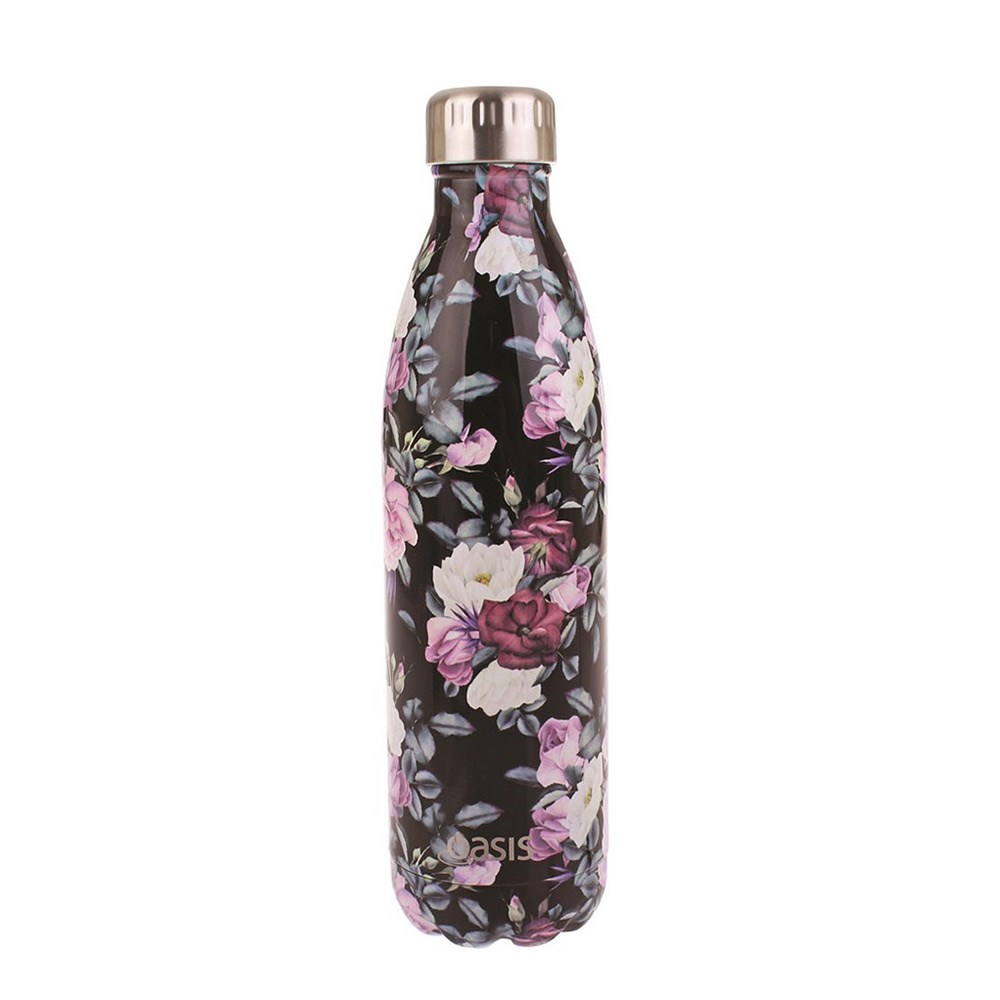 Oasis Insulated Water Bottle 750ml Midnight Floral