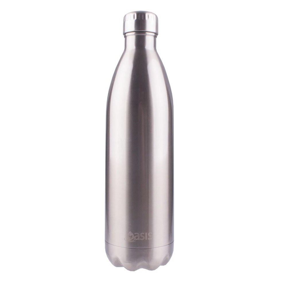 D.Line Oasis Insulated Drink Bottle 1L Silver