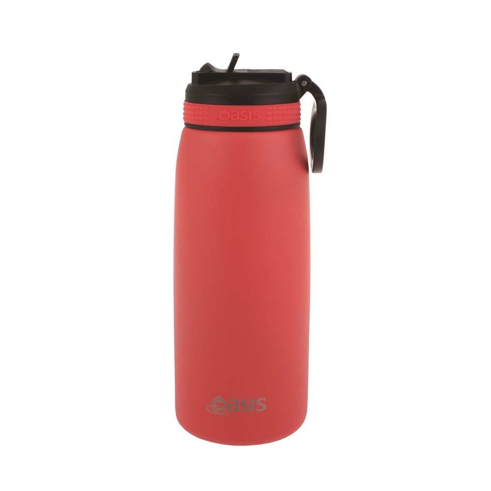 Oasis Insulated Sports Water Bottle With Straw 780ml Coral