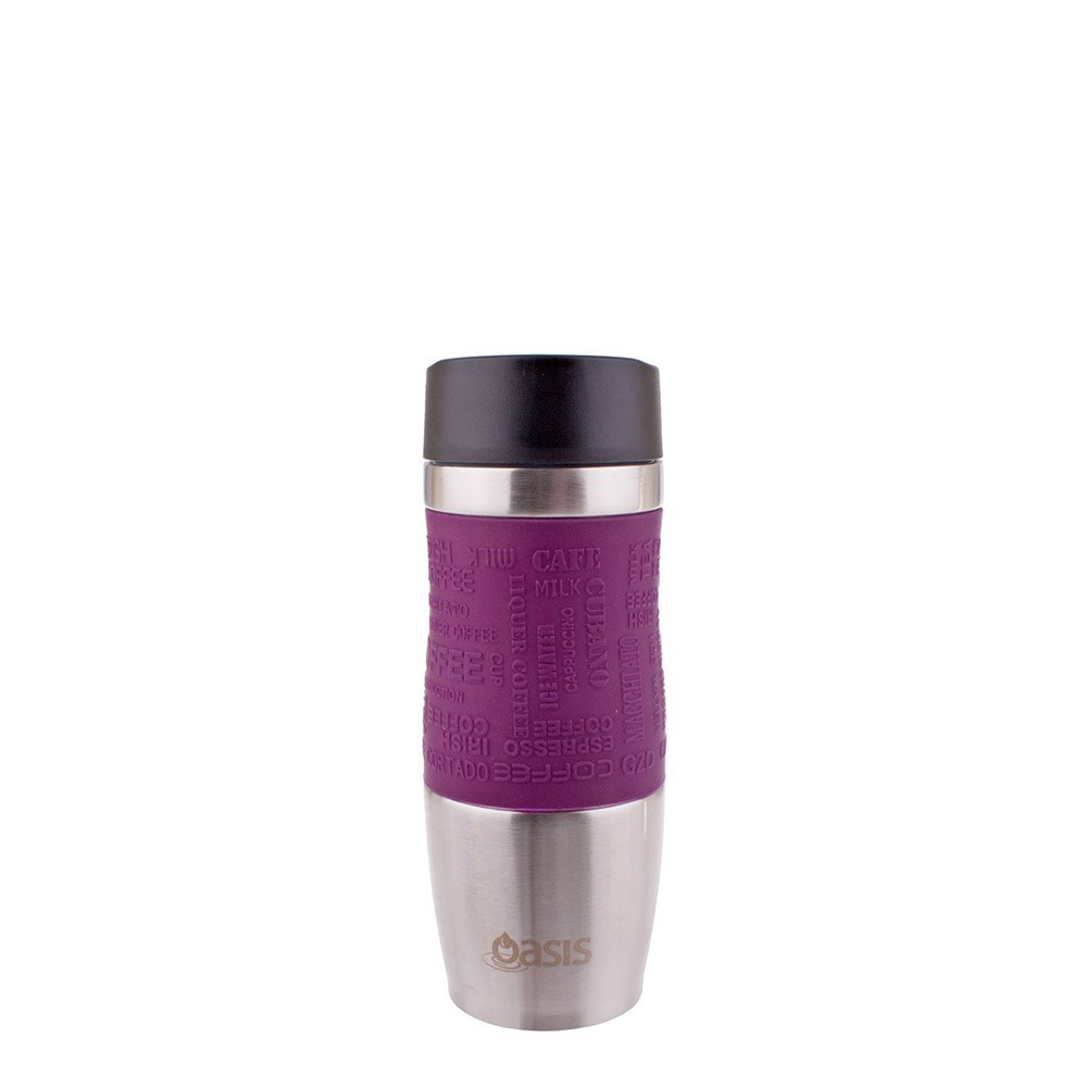 Oasis Caf Insulated Travel Cup 380ml Plum