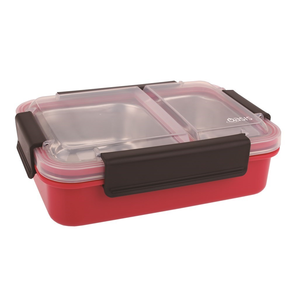 Oasis Stainless Steel Compartment Lunch Box 23 x 16.5cm Watermelon