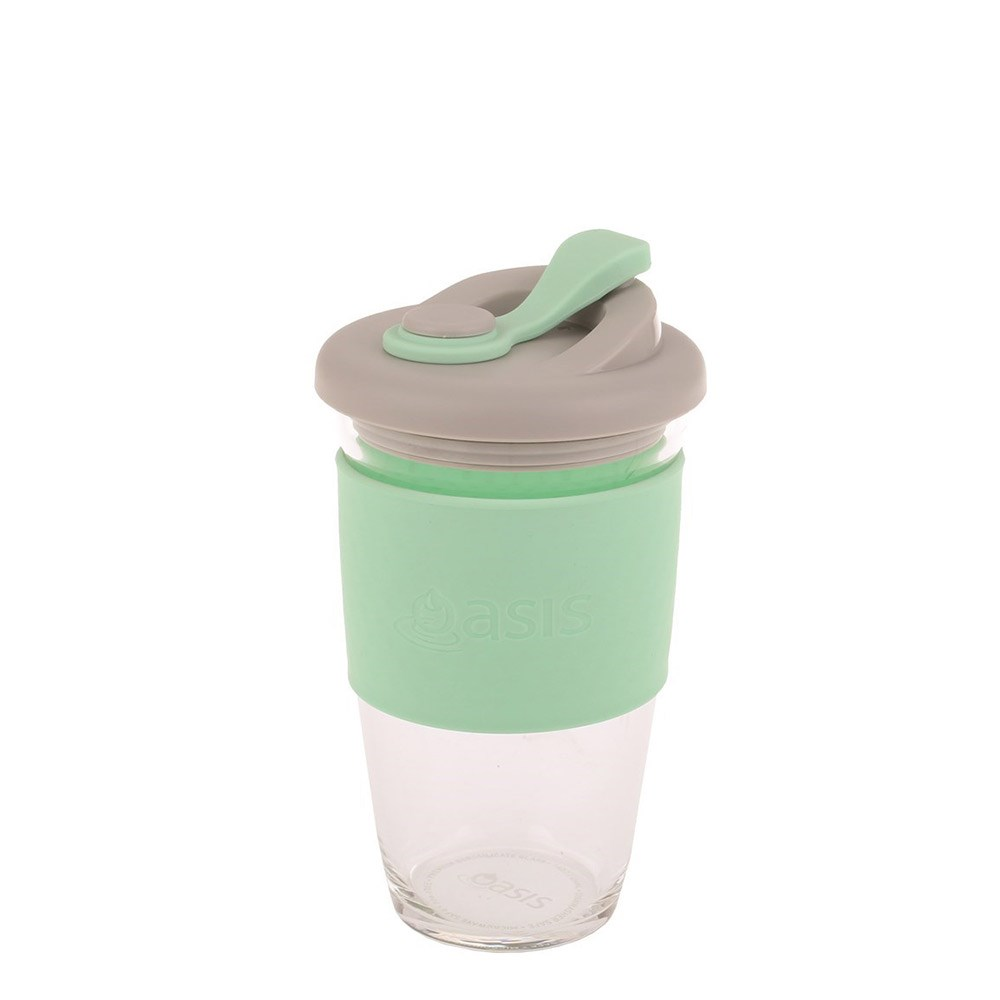 Oasis Eco-Cup Borosilicate Glass Spearmint 454ml