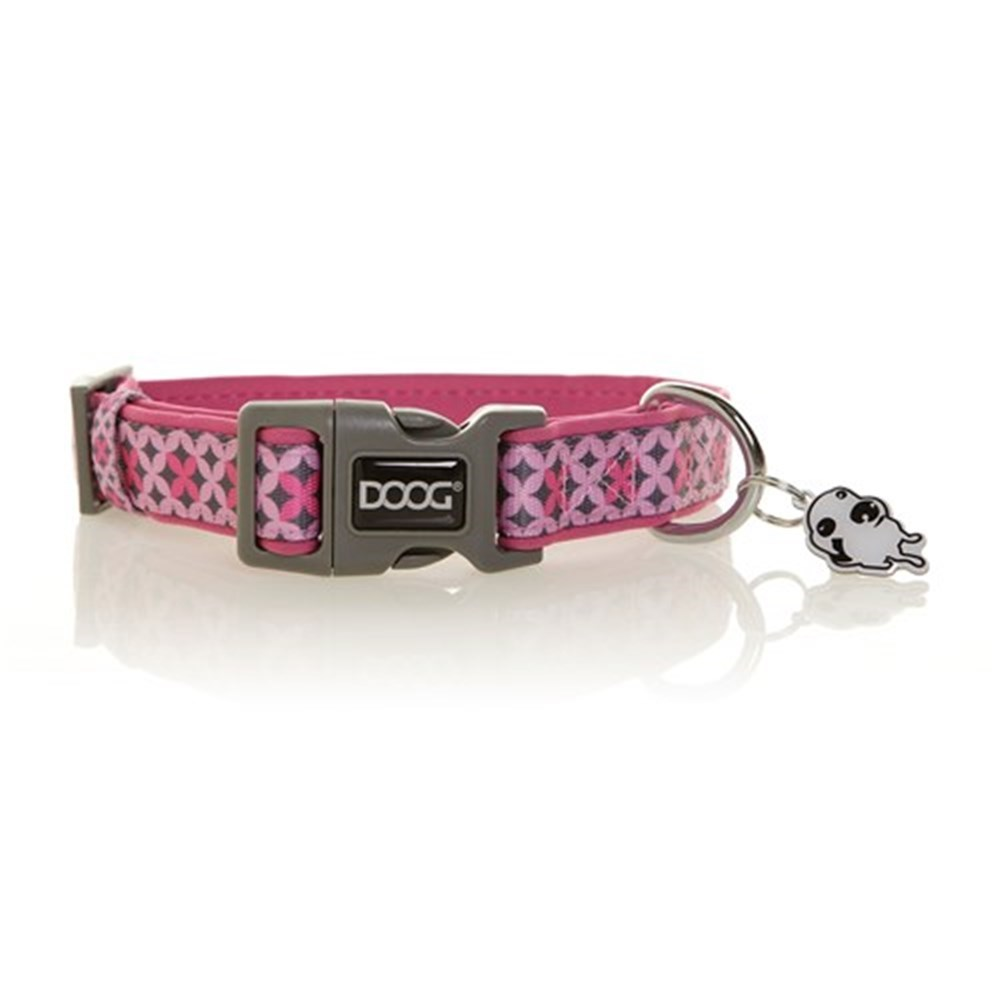 Doog Toto Collar Pink & Black Small