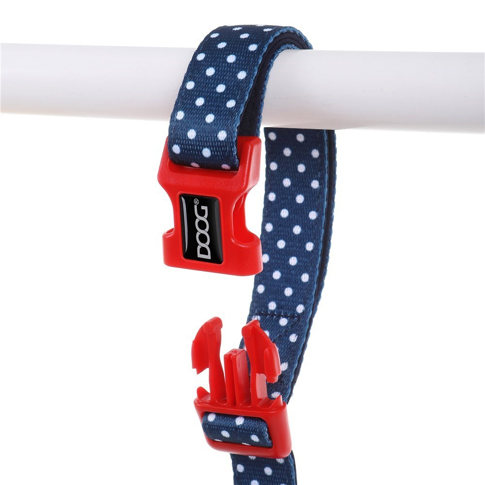 Doog Stella Clip It Canvas Dog Lead Navy with White Spots