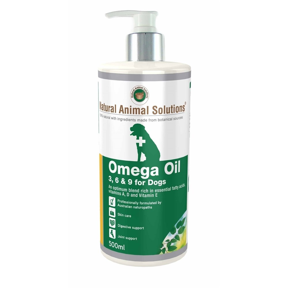 Natural Animal Solutions Omega Oil 3,6 & 9 for Dogs 500ml