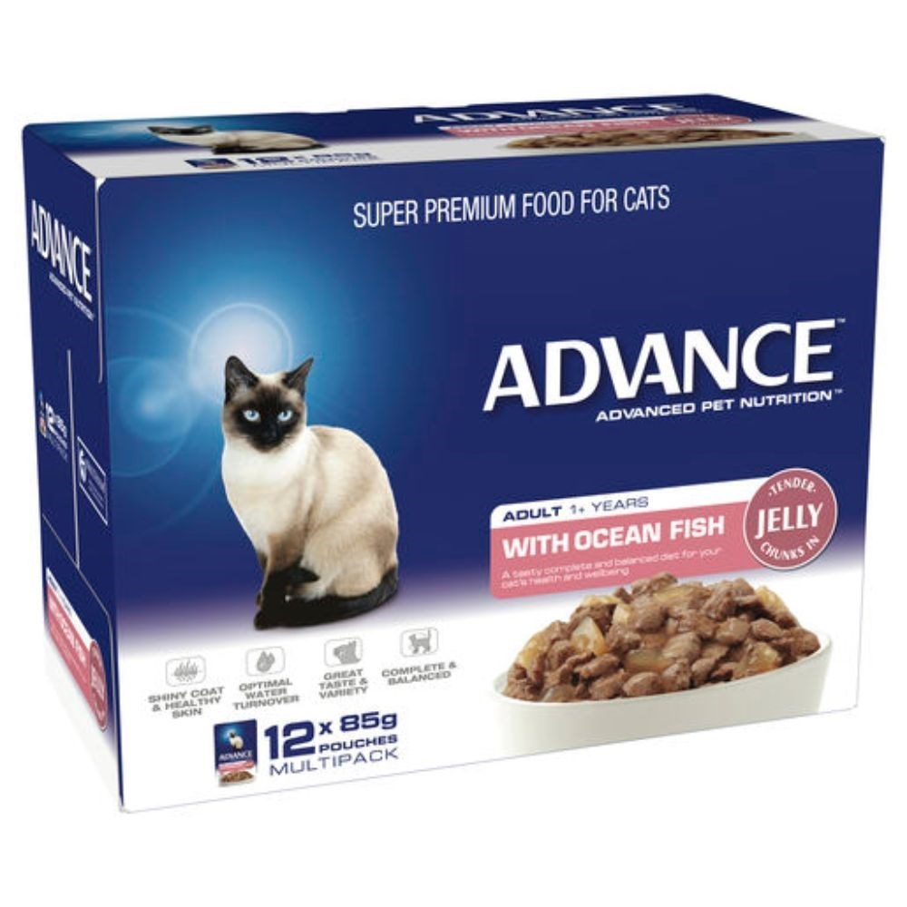 Advance Adult Cat Ocean Fish in Jelly Wet Food 12x85g