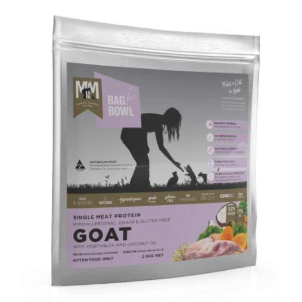 Meals For Meows Kitten Grain Free Single Protein Goat Cat Food 2.5kg