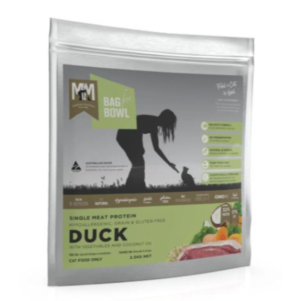 Meals For Meows Adult Grain Free Single Protein Duck Cat Food 2.5kg