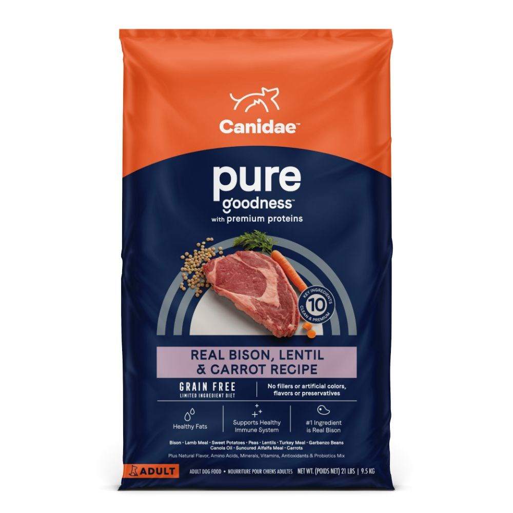 CANIDAE Grain Free PURE Land with Bison Adult Dry Dog Food 9.53kg
