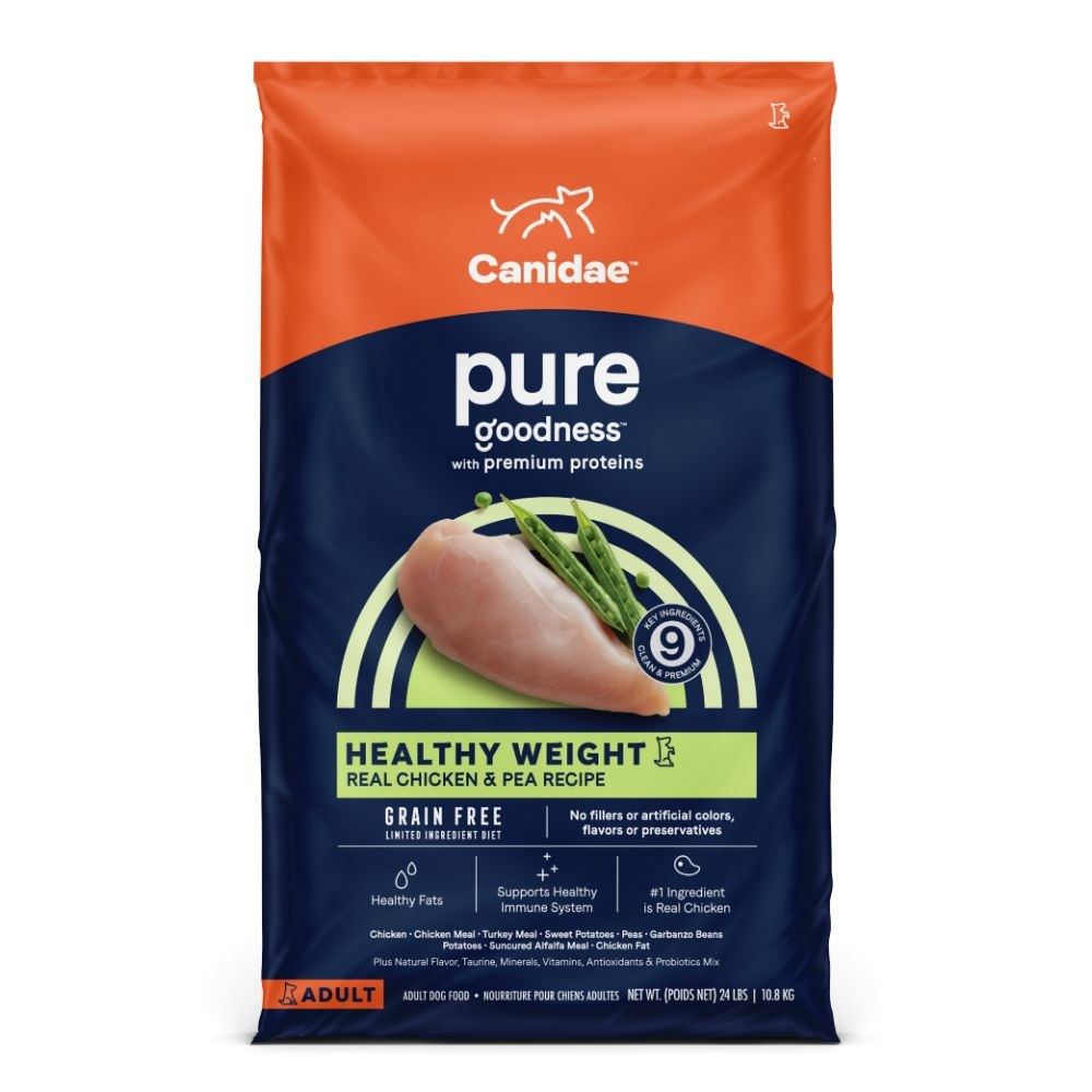 CANIDAE PURE Healthy Weight Real Chicken & Pea Recipe Grain Free Dry Dog Food 10.8kg