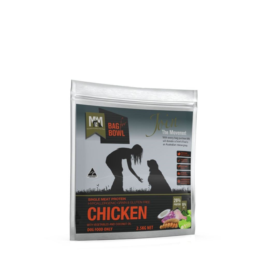 Meals for Mutts Grain Free Single Protein Chicken Dog Food 2.5kg