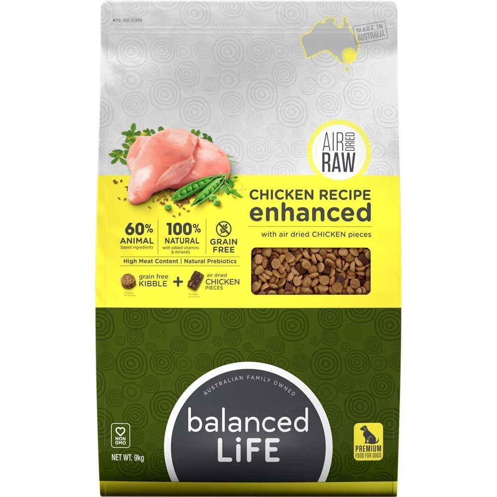 Balanced Life Enhanced Dry Dog Food With Chicken Meat Pieces 9kg