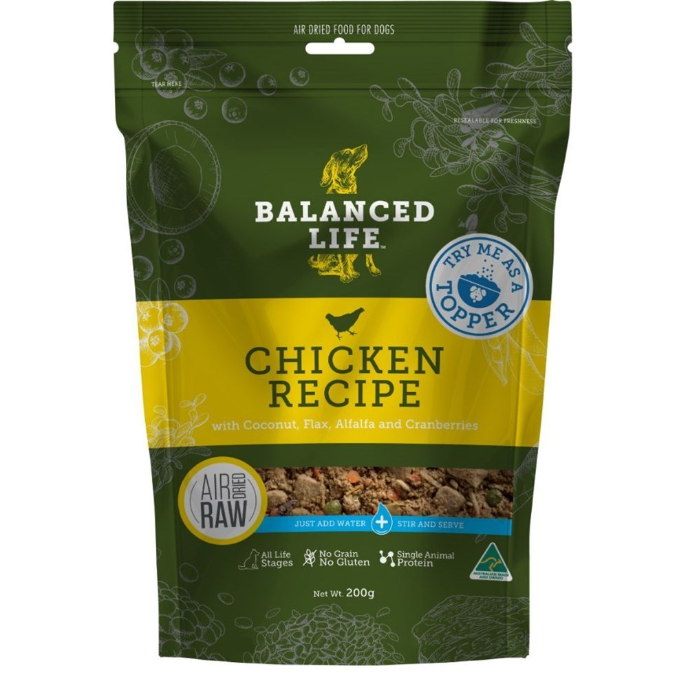 Balanced Life Adult Rehydratable Chicken Dry Dog Food Topper 200g