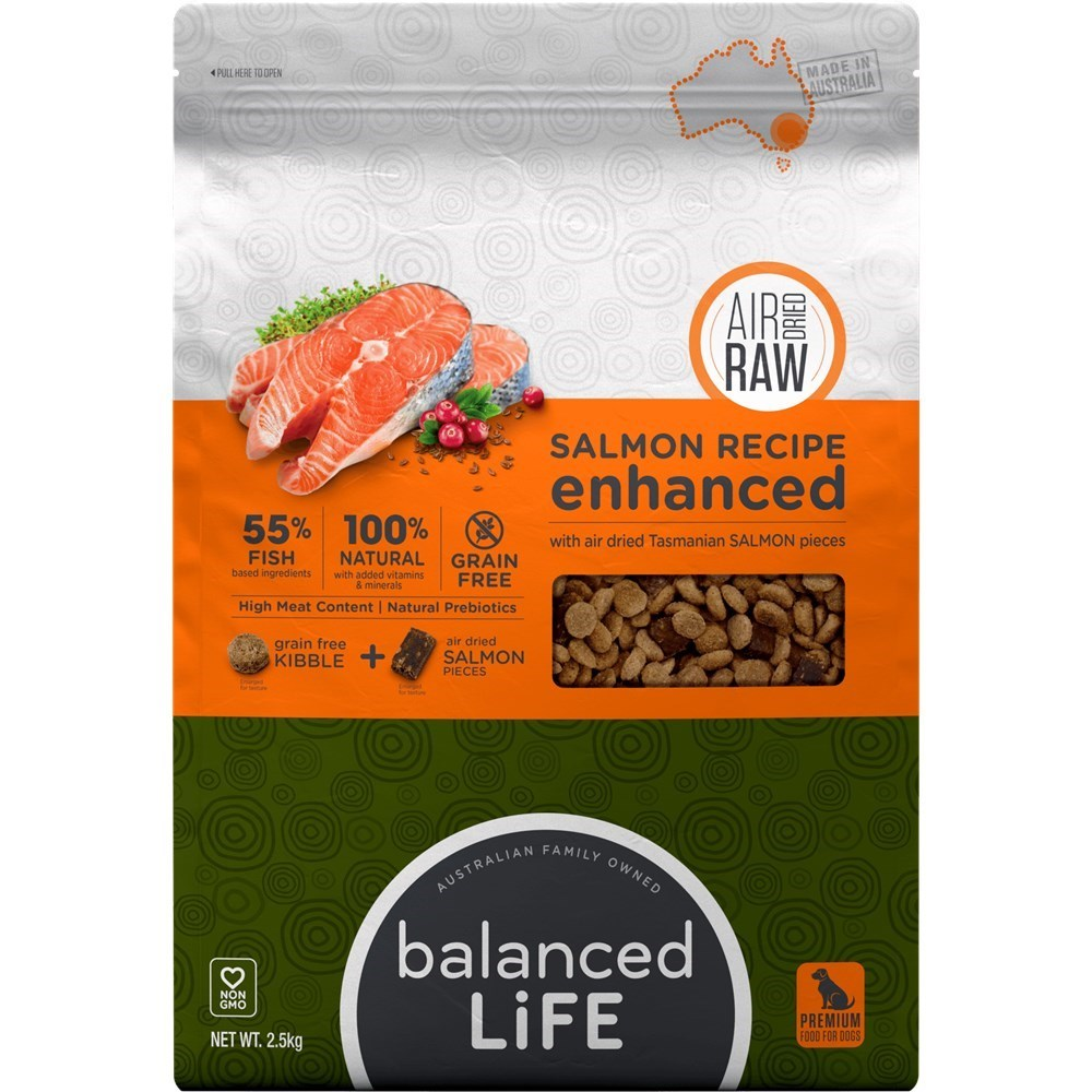 Balanced Life Enhanced Dry Dog Food With Salmon Meat Pieces 2.5kg