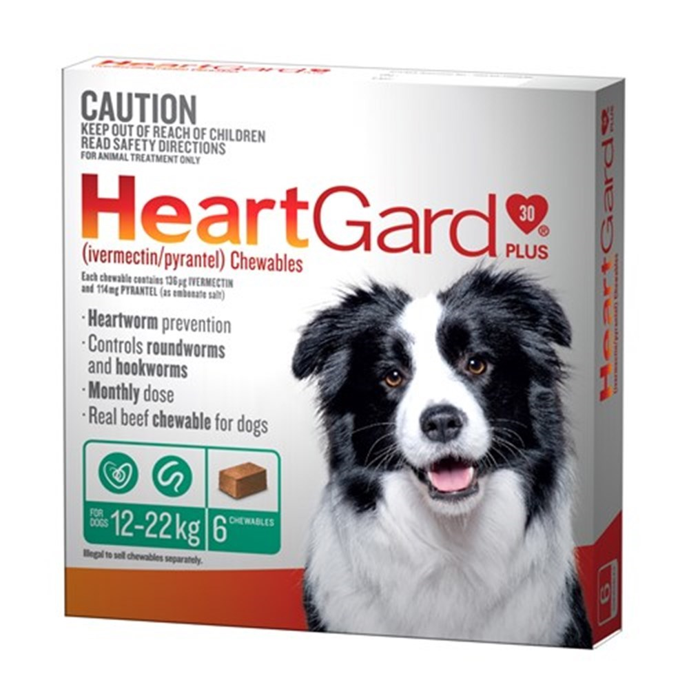 Heartgard Plus for Dogs 12-22kg Pack of 6