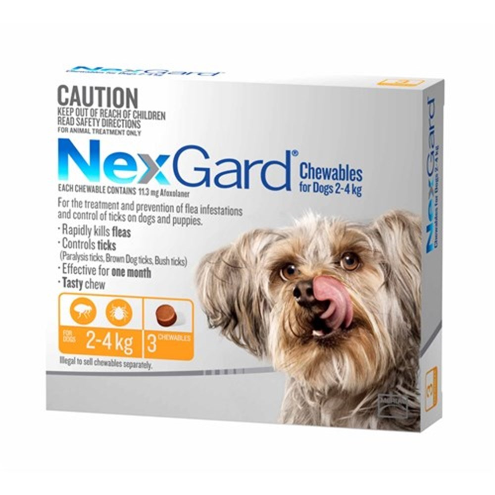 Nexgard for Small Dogs 2-4kg Pack of 3