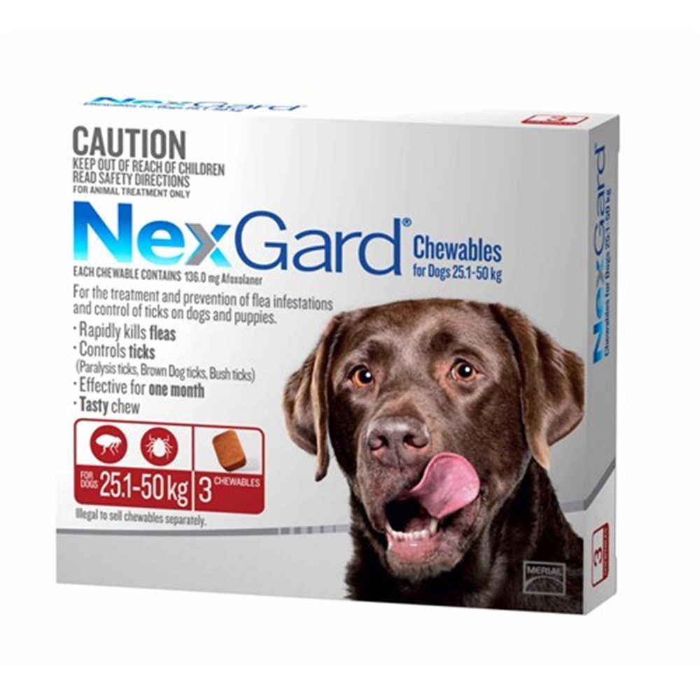 Nexgard for Extra Large Dogs 25.1-50kg Pack of 3