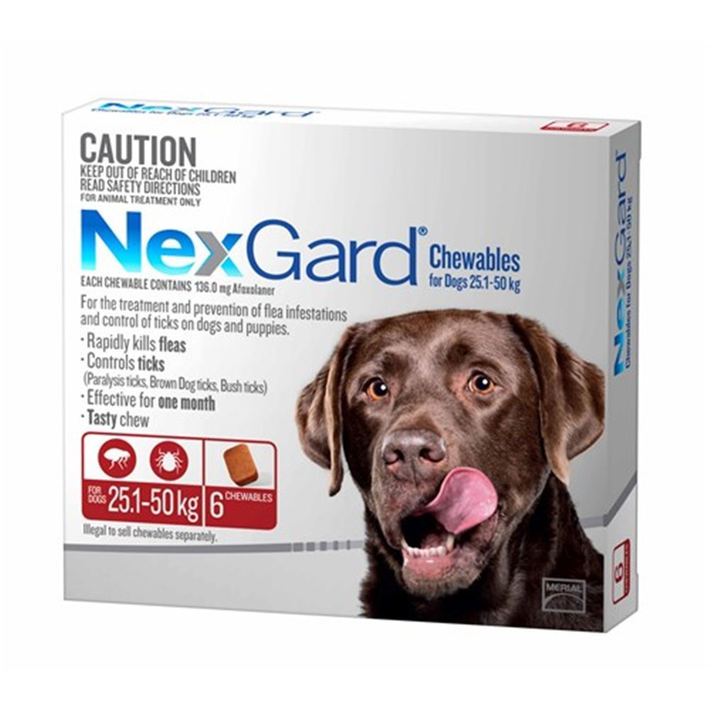Nexgard for Extra Large Dogs 25.1-50kg Pack of 6