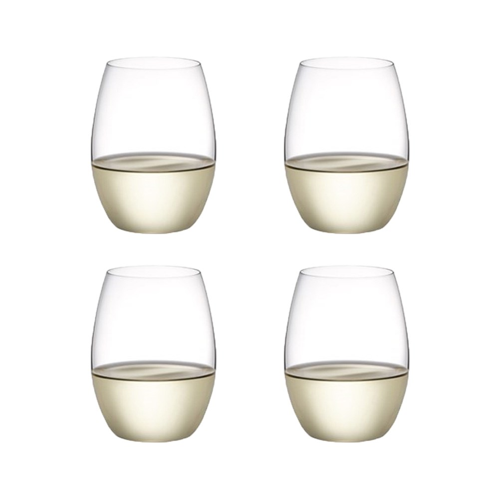 Plumm Vintage Stemless White+ Wine Glass 398ml Set of 4