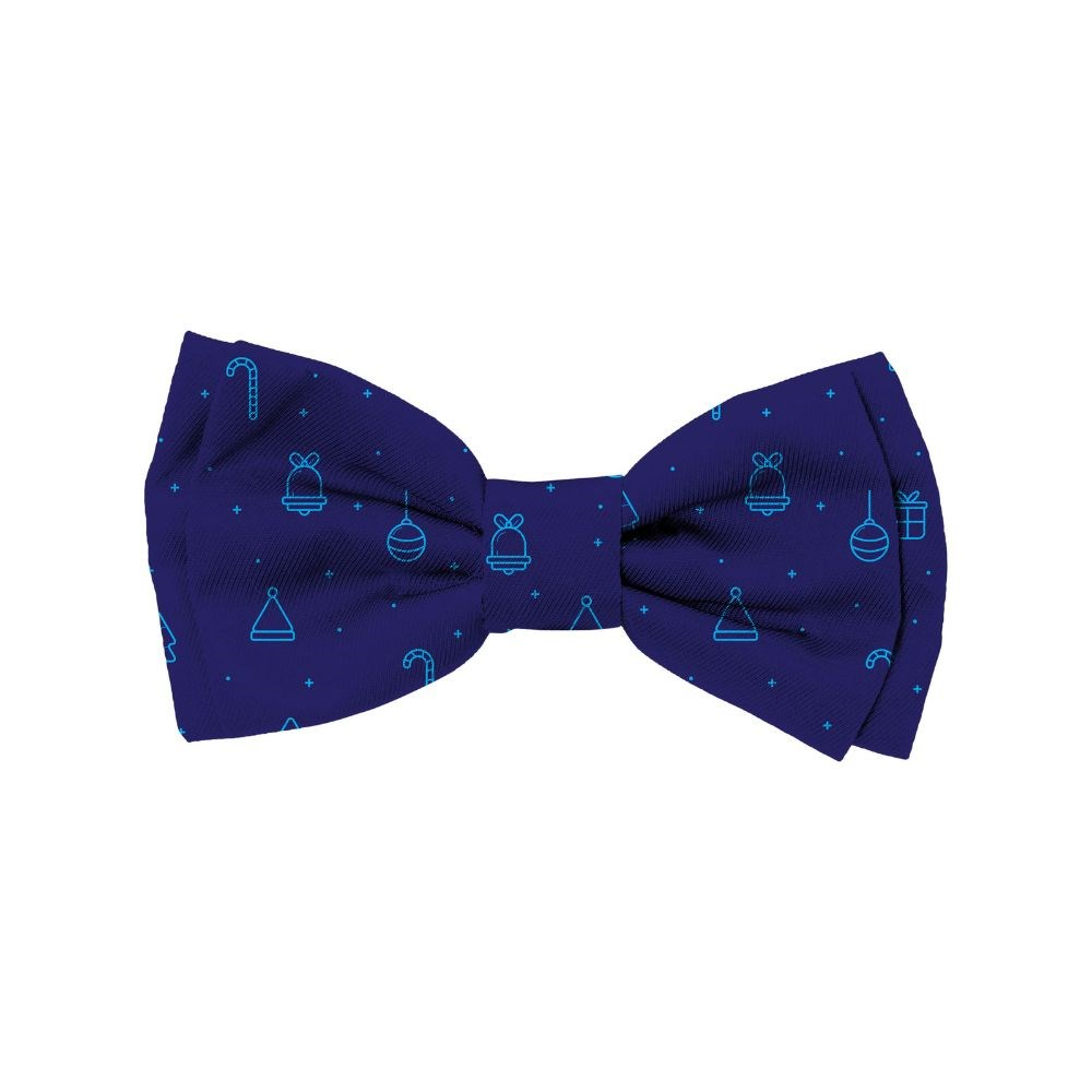 FuzzYard Christmas Christmas Blues Bowtie Small