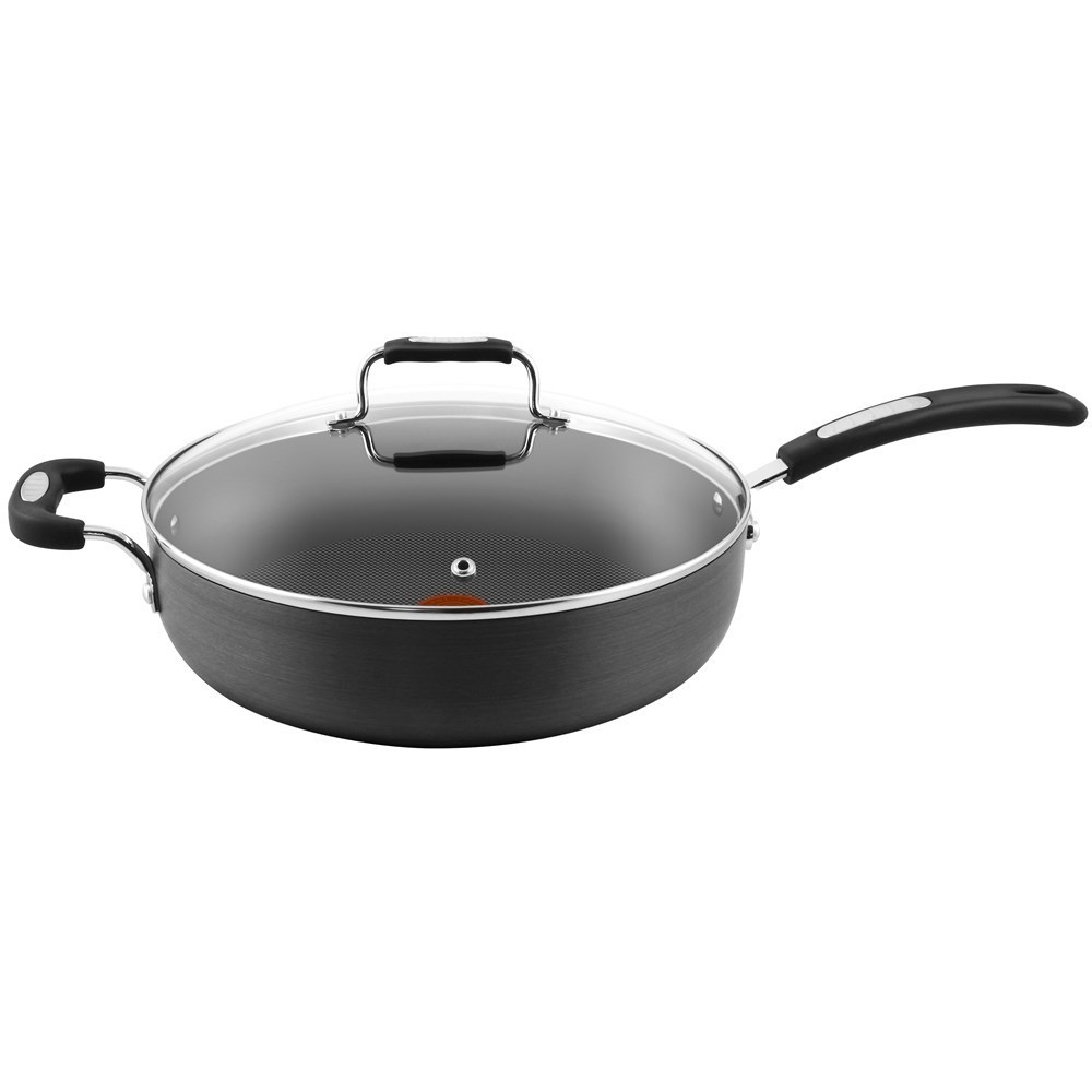 Tefal Hard Anodised Specialty Saute Pan with Lid 30cm
