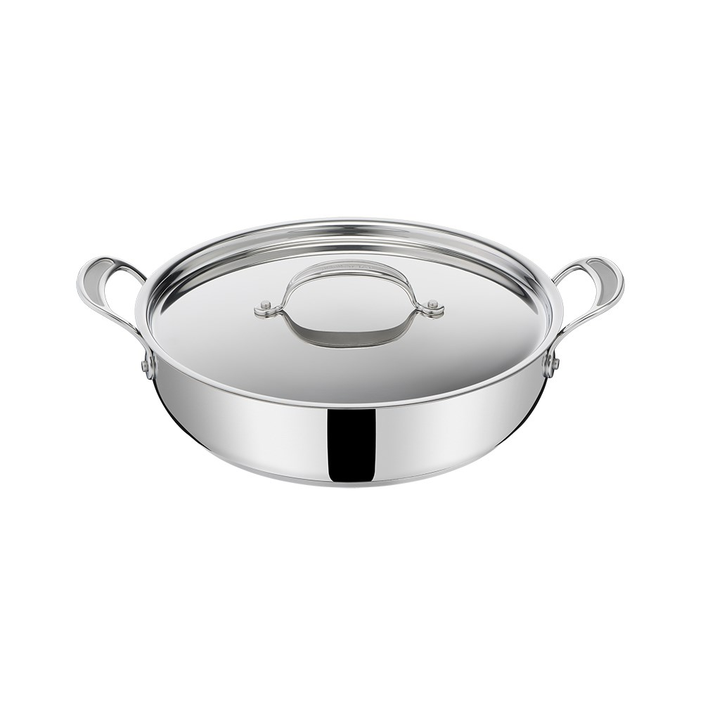 Jamie Oliver by Tefal Cooks Classic Induction Non Stick Stainless Steel Shallowpan 30cm
