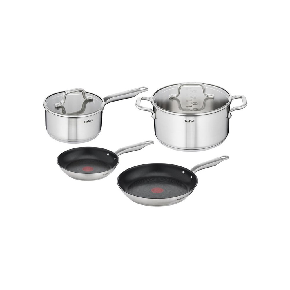 Tefal Virtuoso 4 Piece Stainless Steel Induction Cookware Set