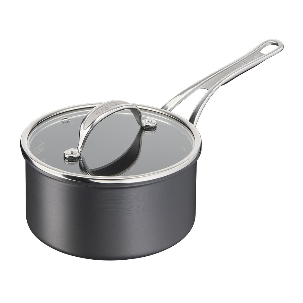 Jamie Oliver by Tefal Cooks Classic Induction Non Stick Hard Anodised Saucepan 18cm