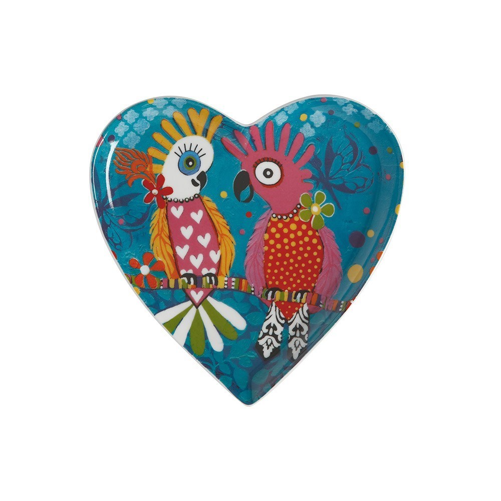 Maxwell & Williams Donna Sharam Love Hearts Chatter Heart Plate 15.5cm Multicolour