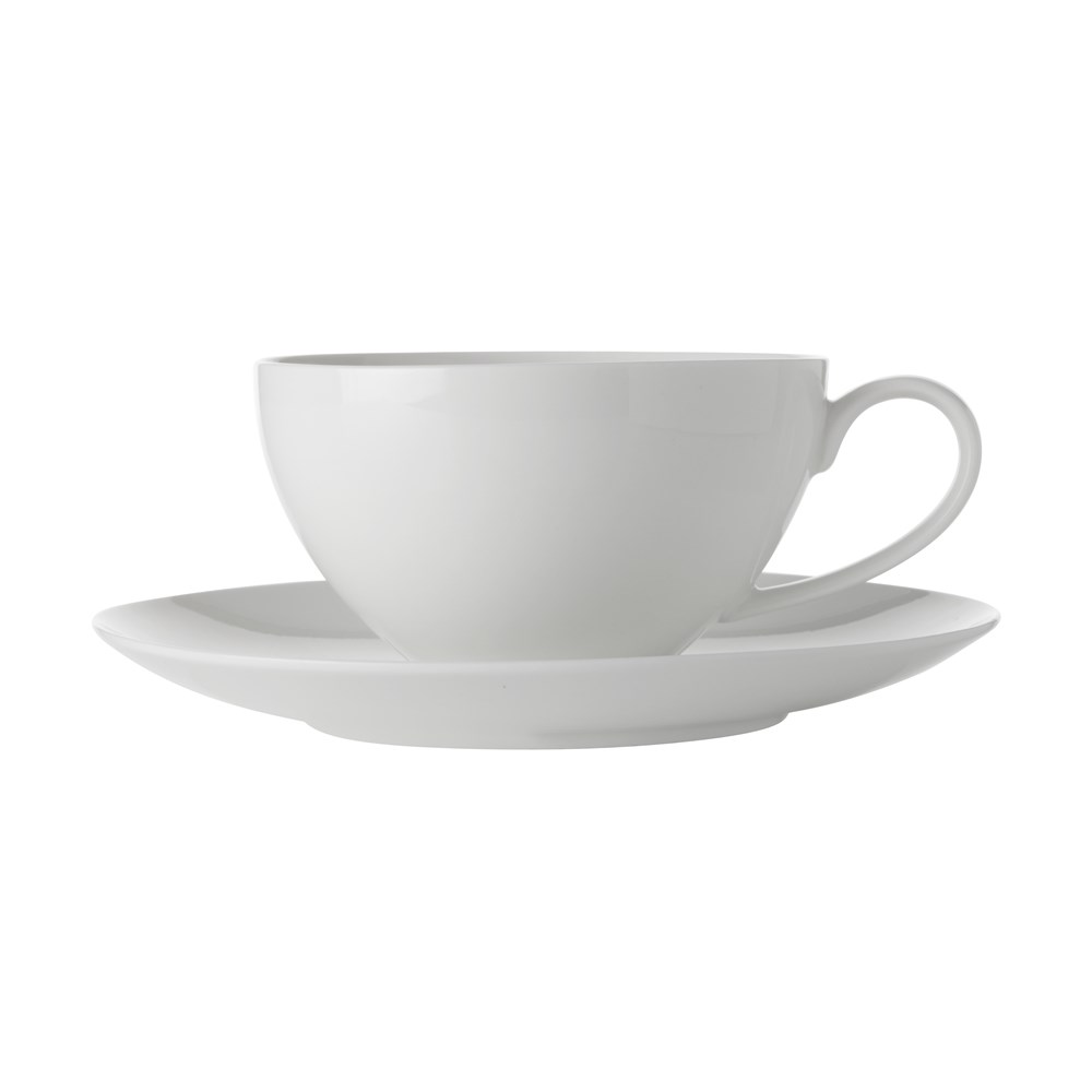 Maxwell & Williams White Basics Coupe Breakfast Cup & Saucer 400ml