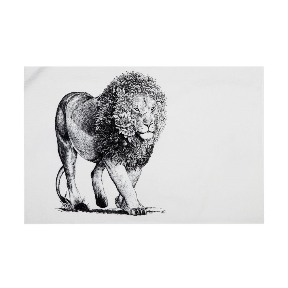 Maxwell & Williams Marini Ferlazzo African Lion Tea Towel 50 x 70cm