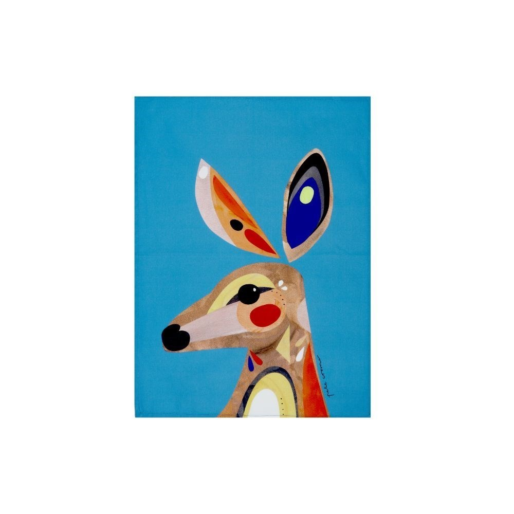 Maxwell & Williams Pete Cromer Kangaroo Tea Towel 50 x 70cm