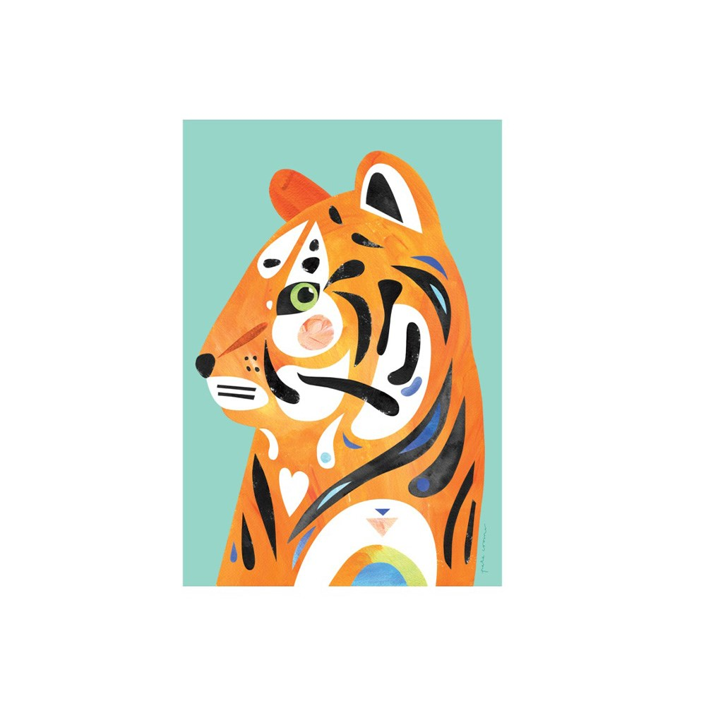 Maxwell & Williams Pete Cromer Wildlife Tea Towel 50x70cm Tiger