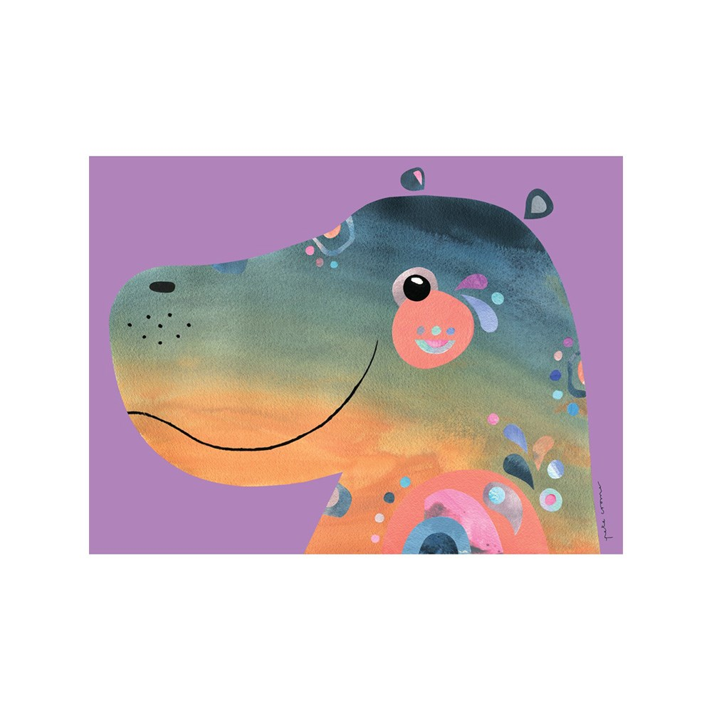 Maxwell & Williams Pete Cromer Wildlife Tea Towel 50x70cm Hippo