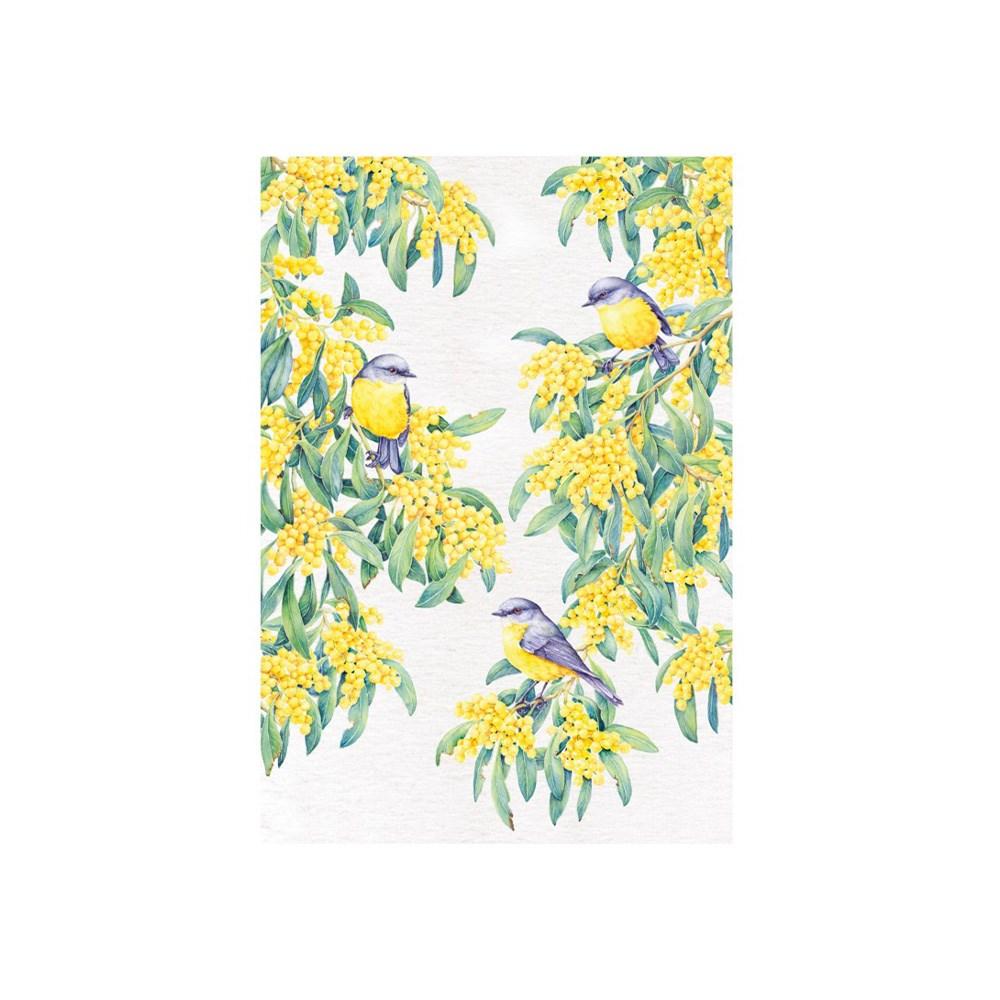 Maxwell & Williams Royal Botanic Gardens Garden Friends Tea Towel 50x70cm Robin