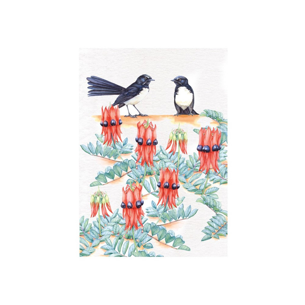 Maxwell & Williams Royal Botanic Gardens Garden Friends Tea Towel 50x70cm Willy Wag Tail