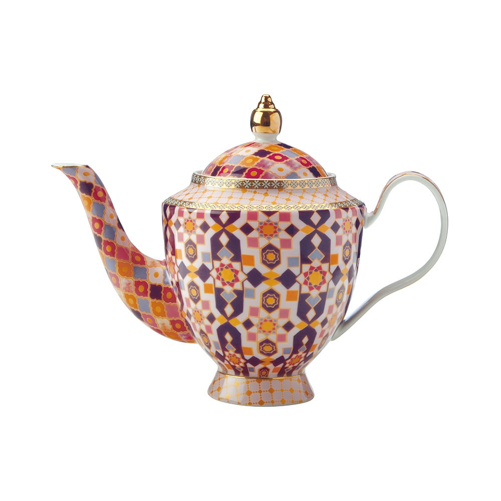 Maxwell & Williams Teas & C's Kasbah Porcelain Teapot with Infuser 500ml Rose